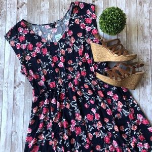 Torrid Floral Fit and Flare Dress